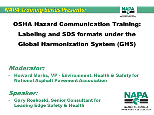 GHS Compliance Training Module