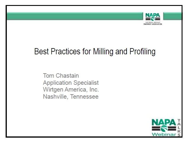 Best Practices in Milling and Profiling