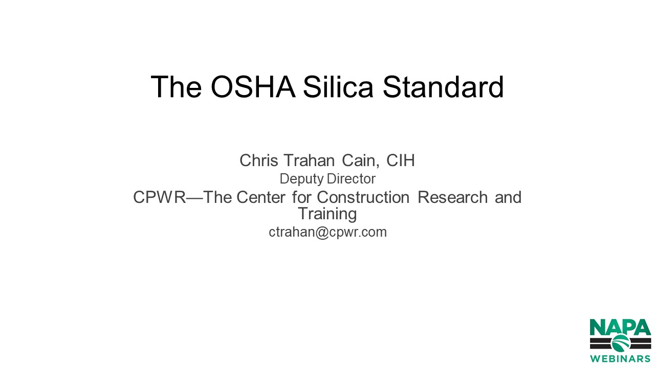 Complying with OSHA's New Silica Rule