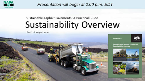 Sustainable Asphalt Pavements: A Practical Guide — Part 1: Sustainability Overview